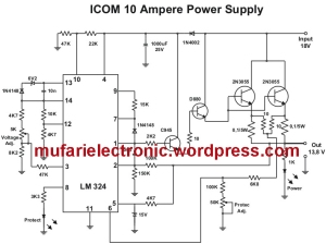 ICOM 10 Ampere Power Supply copy