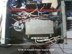 ICOM 10 Ampere Power Supply Inside