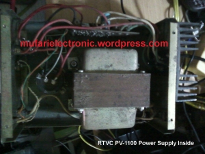 RTVC PV-1100 Power Supply Inside