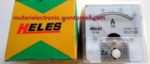 Amperemeter front