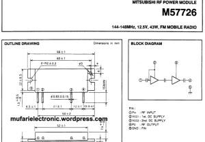 datasheet M57726